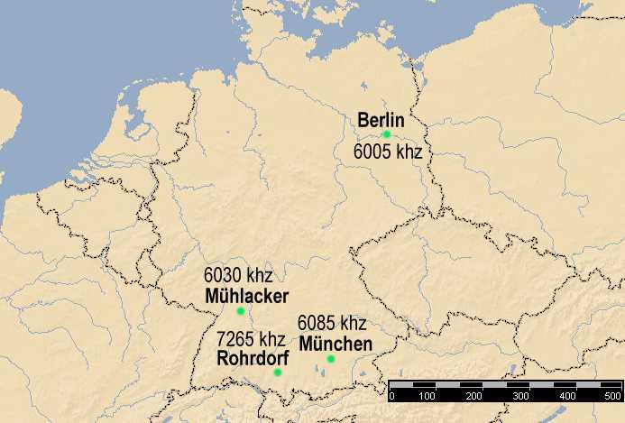 Standorte Der Kurzwellensender